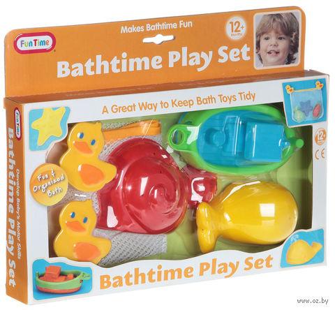 "Набор игрушек для купания ""Лодка и морские обитатели"" (с подвесной сеткой)"