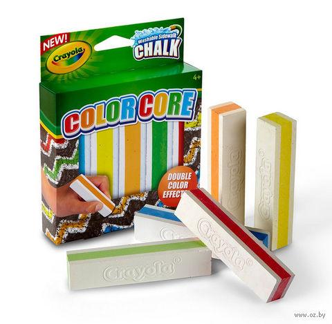 """Мел с цветным стержнем """"Crayola"""" (5 цветов)"""