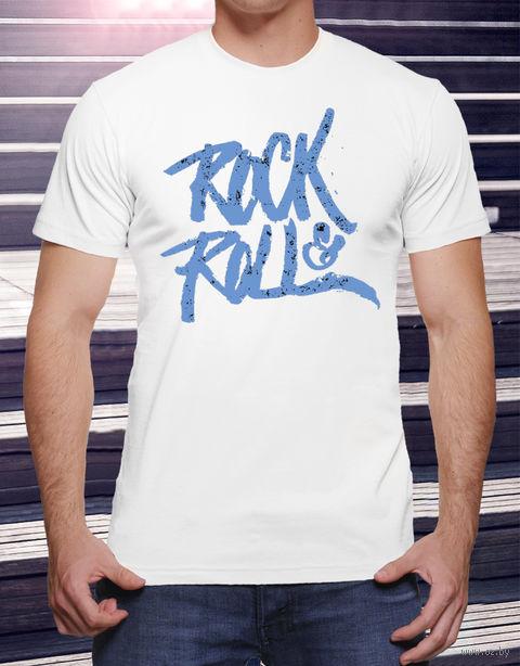 """Футболка мужская """"Rock and Roll"""" M (art.19)"""