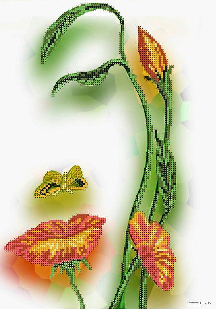 """Канва с нанесенным рисунком """"Цветочный портрет"""""""