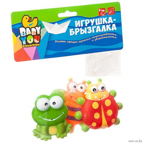 "Набор игрушек для купания ""Бабочка, лягушка, божья коровка"" — фото, картинка"