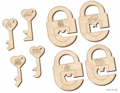 "Деревянная игрушка ""Замочки и ключики № 3"" — фото, картинка"