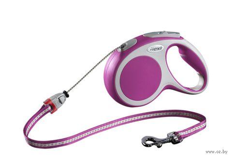 "Поводок-рулетка для собак ""Vario"" (розовый, размер M, до 20 кг/5 м, арт. 12036)"