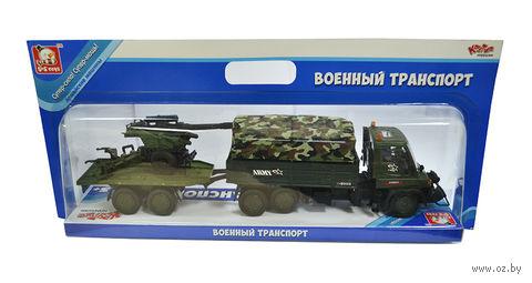 """Игровой набор """"Военный транспорт"""" (с пушкой)"""