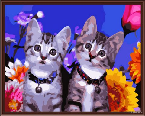 "Картина по номерам ""Кошачье любопытство"" (300х400 мм)"