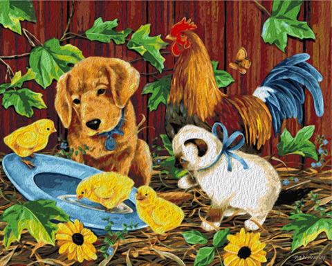 """Картина по номерам """"Веселая ферма"""" (400х500 мм) — фото, картинка"""