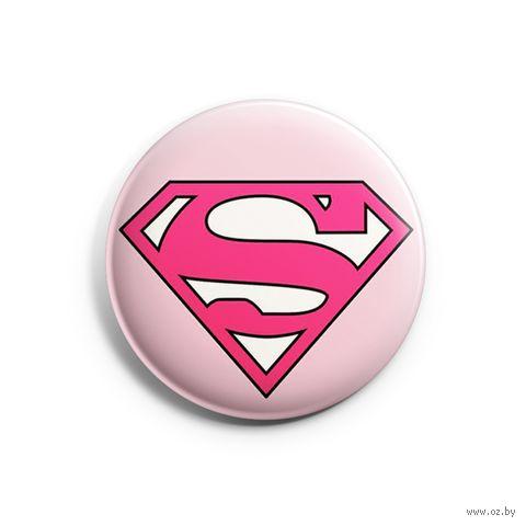 "Значок маленький ""Supergirl"" (арт. 811) — фото, картинка"