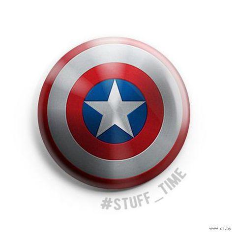 """Значок маленький """"Капитан Америка"""" (арт. 2648) — фото, картинка"""
