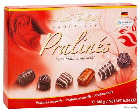 """Конфеты глазированные """"Ассорти. Exquisite Pralines Red"""" (180 г) — фото, картинка"""