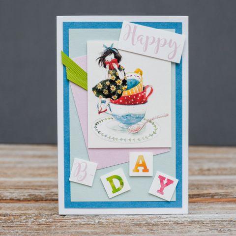 """Открытка """"Happy Birthday"""" (арт. 18-P-362) — фото, картинка"""