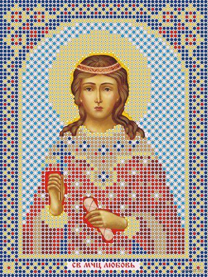 """Вышивка бисером """"Святая Мученица Любовь"""" (120х160 мм) — фото, картинка"""