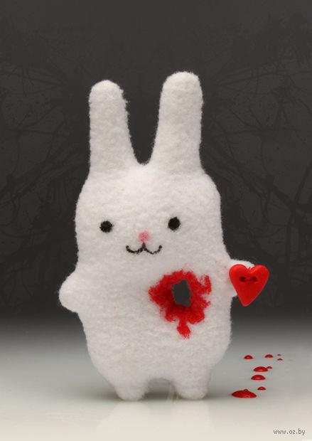 """Игрушка """"Заяц с вырванным сердцем. Тэйк май харт"""""""