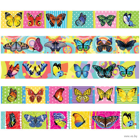 """Магнитная закладка """"Бабочки"""" (25х200 мм; в ассортименте) — фото, картинка"""