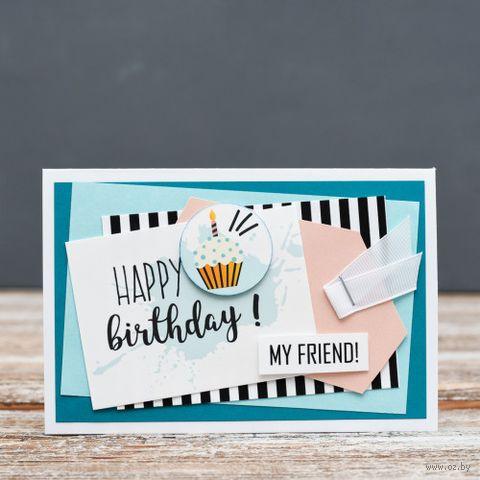 """Открытка """"Happy Birthday"""" (арт. 17-P-316) — фото, картинка"""