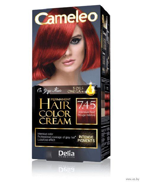 """Крем-краска для волос """"Cameleo"""" (тон: 7.45, интенсивный красный) — фото, картинка"""
