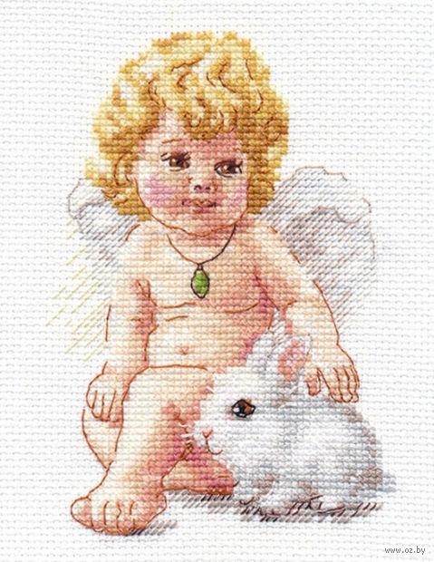 """Вышивка крестом """"Ангел Хранитель"""" (100х140 мм) — фото, картинка"""