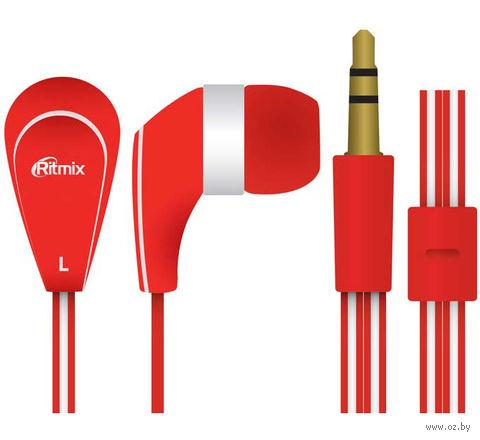 Наушники Ritmix RH-181 (красные) — фото, картинка