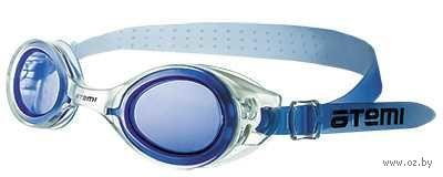 Очки для плавания (бело-синие; арт. N7301) — фото, картинка