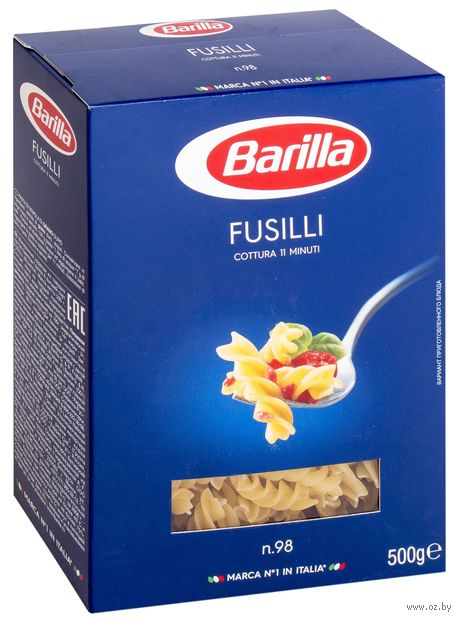 """Макароны """"Barilla. Fusilli №98"""" (500 г) — фото, картинка"""
