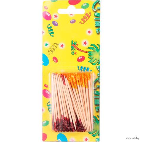 Набор шпажек деревянных (80 шт.; 6,5 см; арт. GL276A)