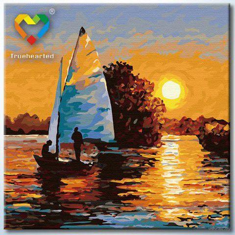"""Картина по номерам """"В лучах заката"""" (400x400 мм; арт. HB4040022)"""