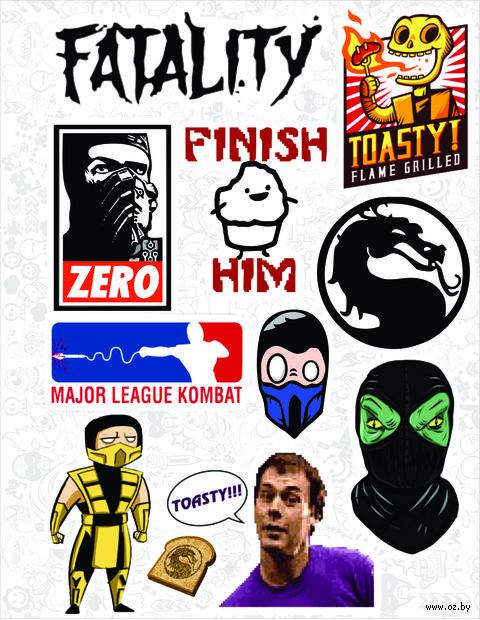 """Набор виниловых наклеек №21 """"Mortal Kombat"""""""