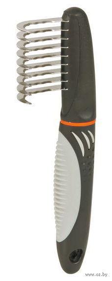 Колтунорез для ухода за шерстью (19 см; с изогнутыми длинными зубьями) — фото, картинка