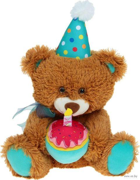 """Мягкая игрушка """"Медведь Праздничный коричневый"""" (55 см) — фото, картинка"""