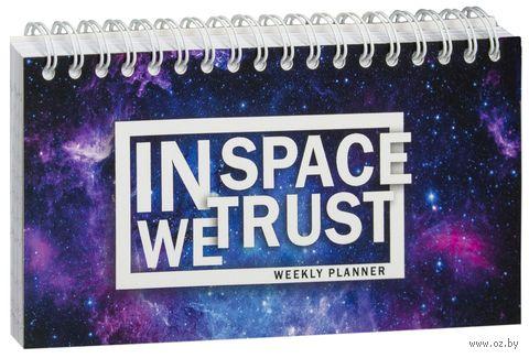 "Планер ""In SPACE we trust"" (80x160 мм) — фото, картинка"