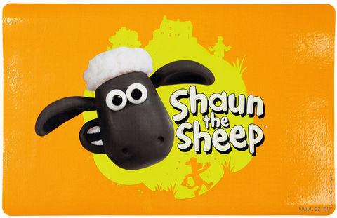"Коврик под миску ""Shaun the Sheep"" (44х28 см; оранжевый) — фото, картинка"