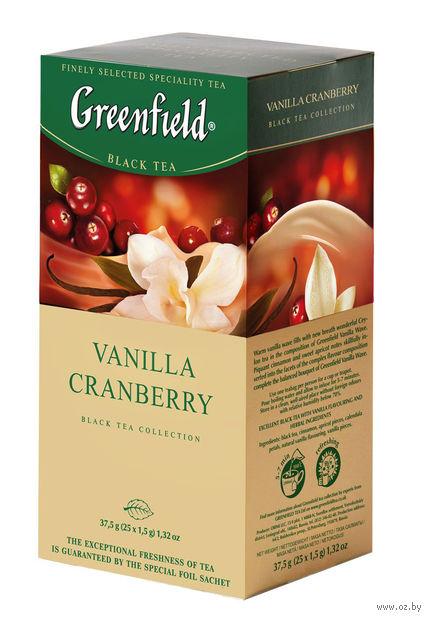 """Чай черный """"Greenfield. Vanilla Cranberry"""" (25 пакетиков) — фото, картинка"""