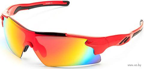 """Очки солнцезащитные """"S-14058-B"""" (красные) — фото, картинка"""