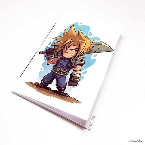 "Блокнот белый ""Final Fantasy"" А6 (886)"