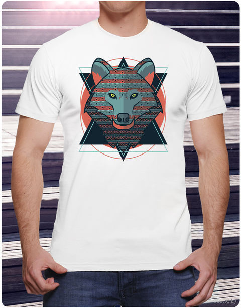 "Футболка мужская ""Волк"" (размер 50; art. 2)"