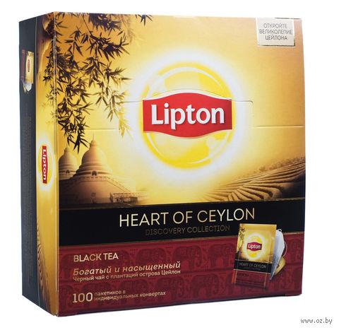 """Чай черный """"Lipton. Heart of Ceylon"""" (100 пакетиков) — фото, картинка"""
