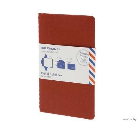 """Почтовый набор Молескин """"Postal Notebook"""" (большой; мягкая красная обложка)"""