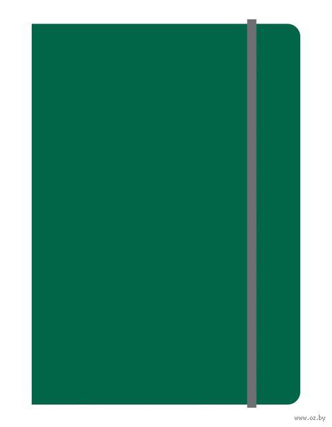 "Блокнот в клетку ""Elements"" (А5; зеленый) — фото, картинка"