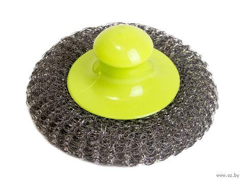 Губка для мытья посуды металлическая (100х100 мм) — фото, картинка