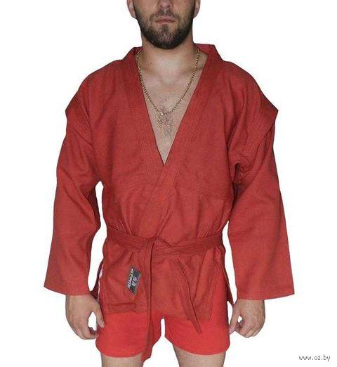 Куртка для самбо AX5 (р. 54; красная; без подкладки) — фото, картинка