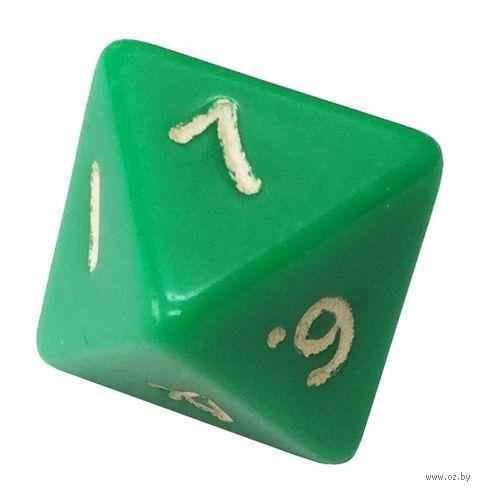 """Кубик D8 """"Простой"""" (16 мм; зелёный) — фото, картинка"""