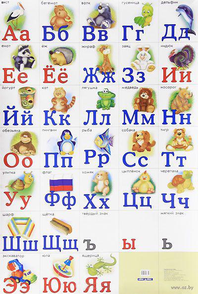 Разрезная русская азбука. Плакат
