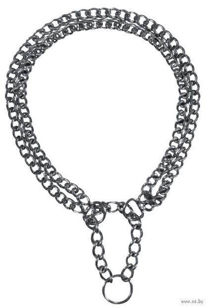 "Ошейник-удавка двойной ""Semi-Choke Chain"" (55 см) — фото, картинка"