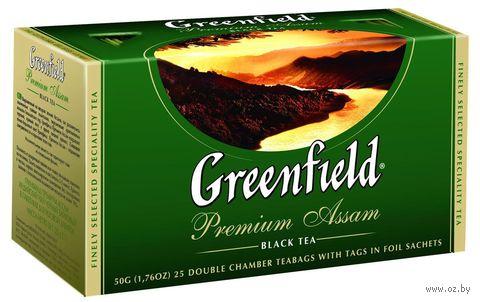 """Чай черный """"Greenfield. Premium Assam"""" (25 пакетиков) — фото, картинка"""
