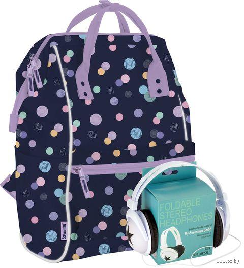 "Рюкзак-сумка ""Seventeen. Горох"" (синий) — фото, картинка"