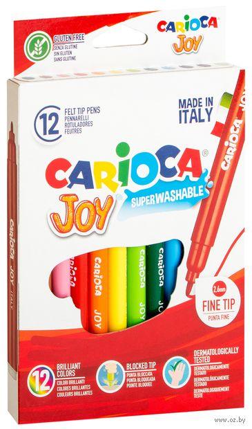 """Фломастеры """"Carioca Joy"""" (12 цветов) — фото, картинка"""