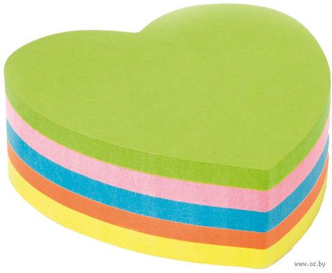 """Бумага для заметок на клейкой основе """"Heart"""" (250 листов; цвет: ассорти)"""