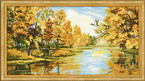 """Вышивка крестом """"Тихая осень"""" (арт. 1334)"""