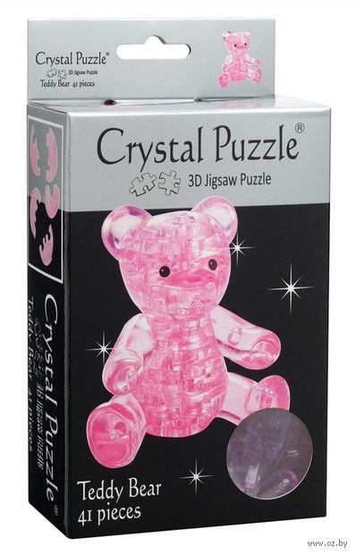 "Пазл ""3D. Мишка розовый"" (41 элемент) — фото, картинка"