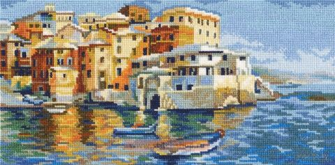 """Вышивка крестом """"Тихая гавань"""" (280x140 мм) — фото, картинка"""