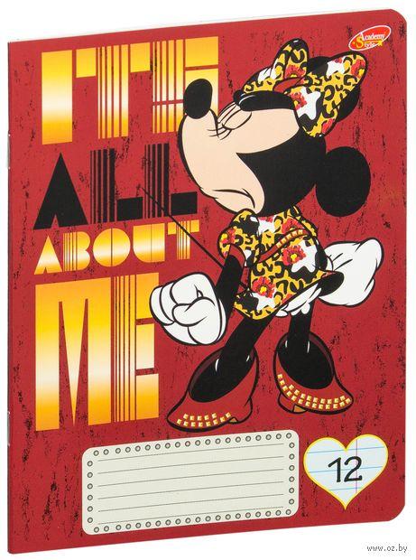 """Тетрадь в линейку """"Minnie Mouse"""" (12 листов; в ассортименте)"""
